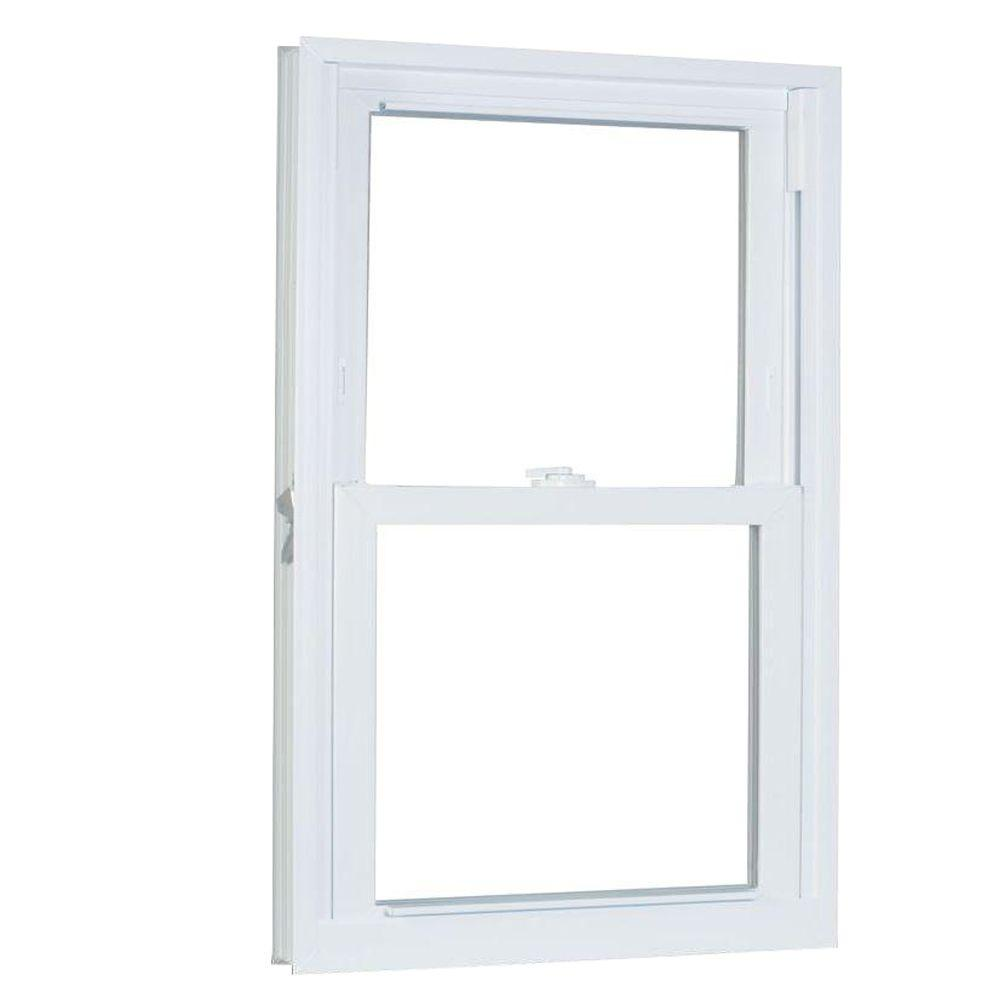 Soundproof Windows Home Depot American Craftsman 29 75 In X 53 25 In 70 Series Pro Double Hung White Vinyl Window With Buck Frame