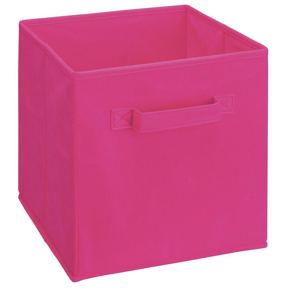Pink Bins Closetmaid Cubeicals 11 In H X 10 5 In W X 10 5 In D Fabric Storage Bin In Pink