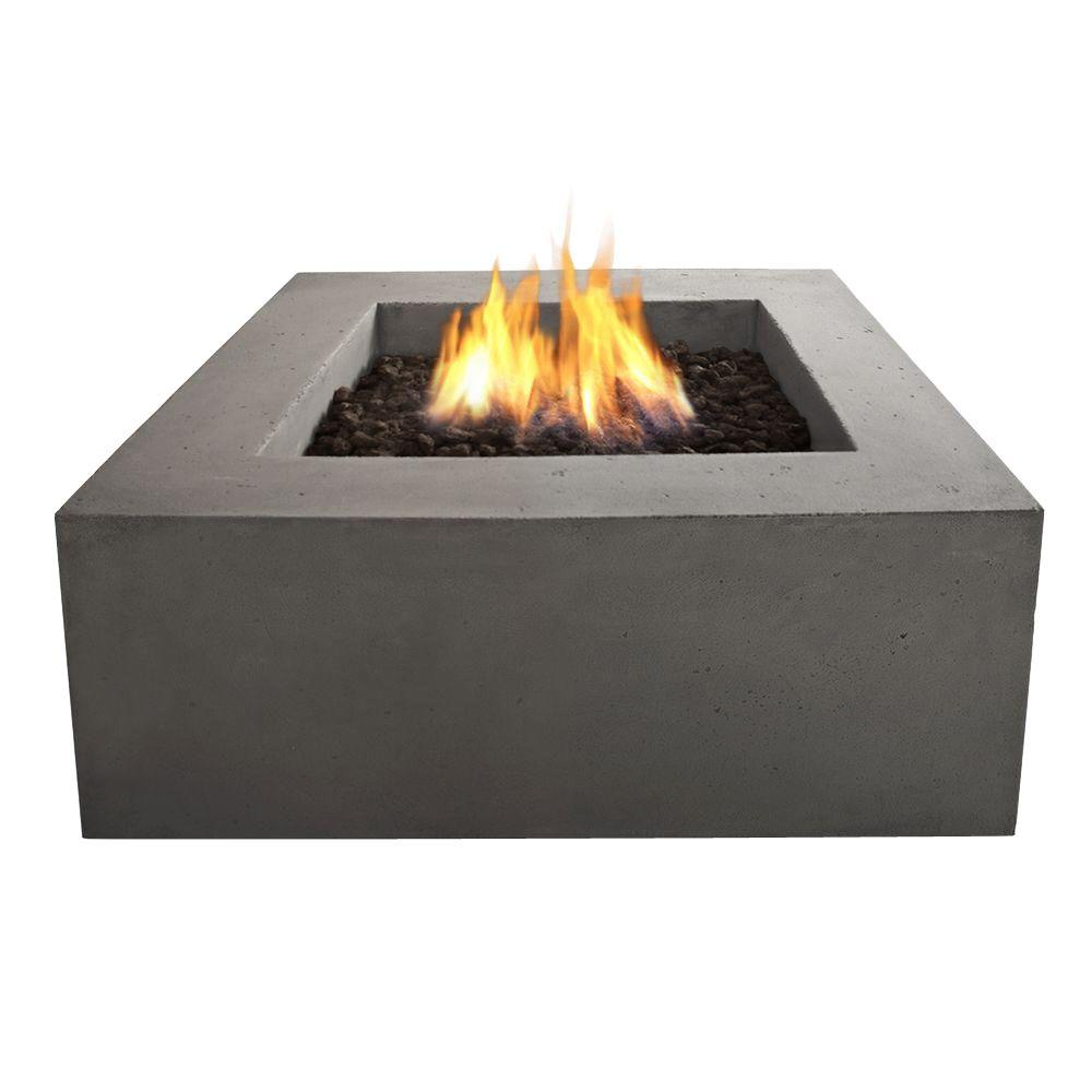 Home Depot Fire Pit Real Flame Baltic 36 In Square Propane Gas Outdoor Fire Pit In Glacier Gray