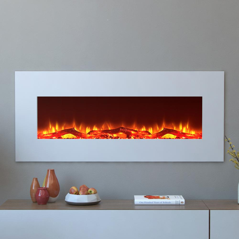 Moda Flame Houston 50 in. Electric Wall Mounted Fireplace