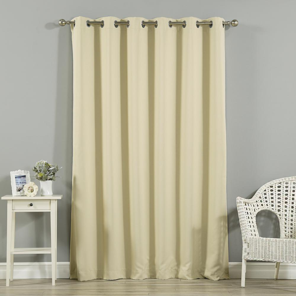 Cheap Stylish Curtains Best Home Fashion Wide Width Basic Silver 80 In W X 96 In L Grommet Blackout Curtain In Beige