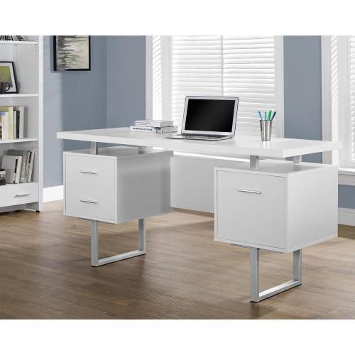 Medium Of White Computer Desk