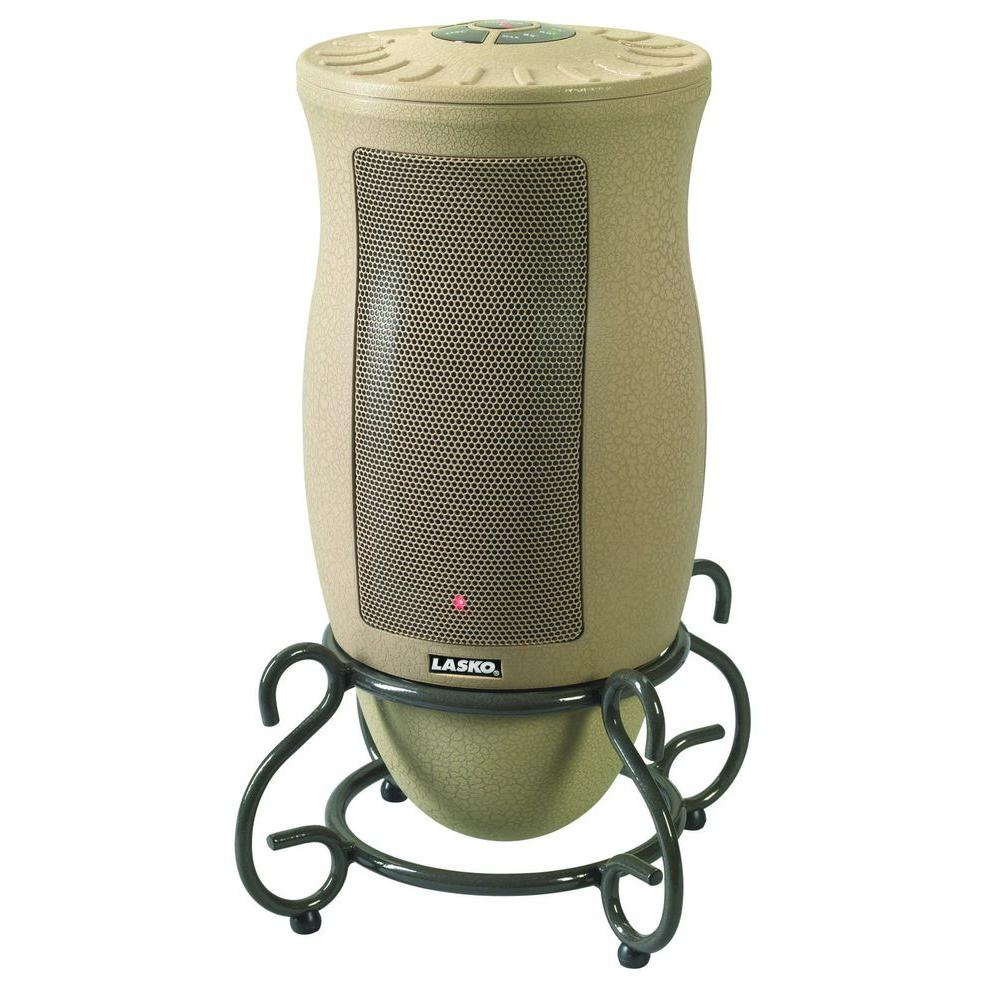 Home Depot Space Heater Lasko Designer Series 1500 Watt Oscillating Ceramic Electric Portable Heater With Remote Control