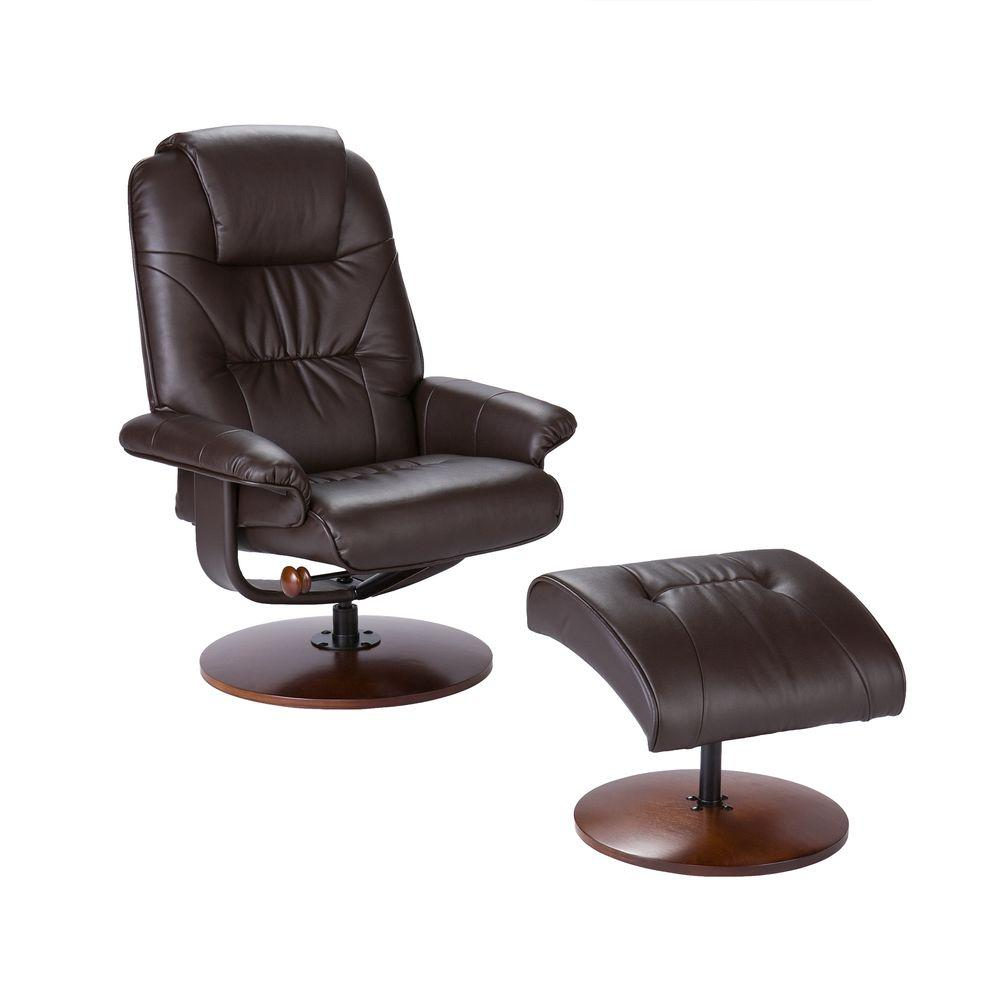 Leather Recliner Chair With Ottoman Black Leather Reclining Chair With Ottoman