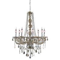 Elegant Lighting 8-Light Golden Teak Chandelier with ...