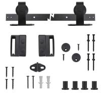 Everbilt Black Top Mount Decorative Sliding Door Hardware ...
