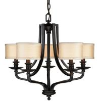 Hampton Bay 5-Light Oil-Rubbed Bronze Hanging Chandelier ...
