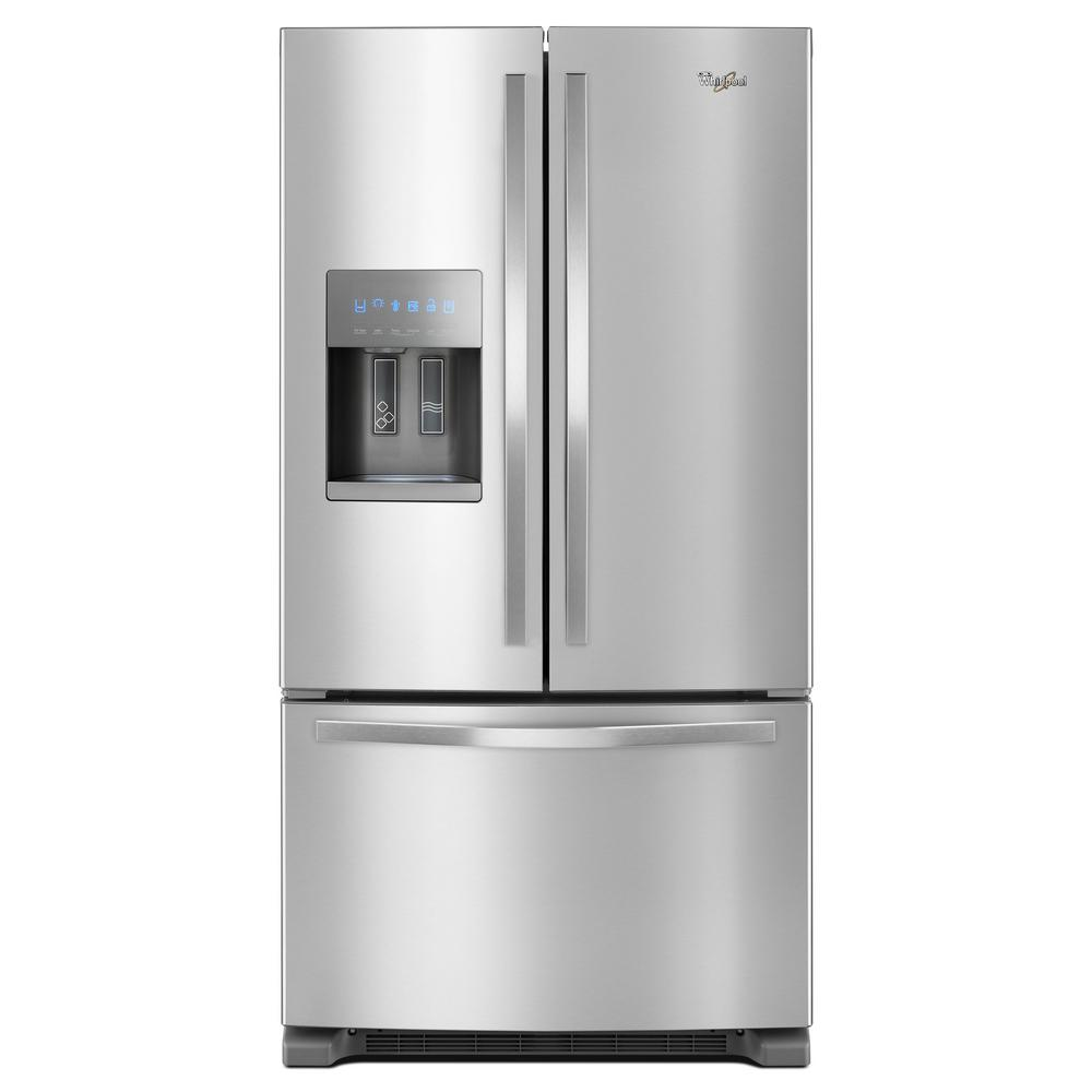 New Refrigerator Price 25 Cu Ft French Door Refrigerator In Fingerprint Resistant Stainless Steel