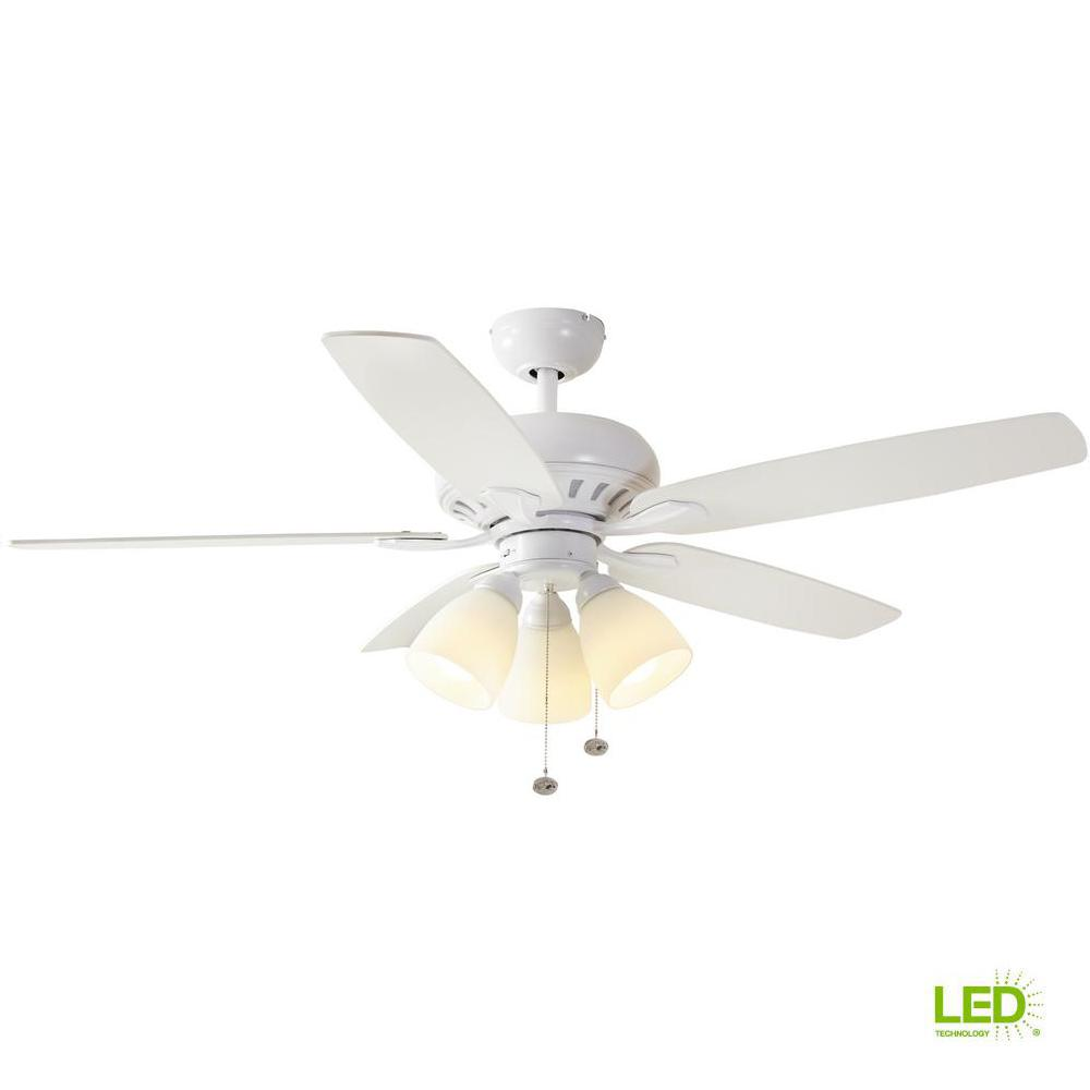 Distressed White Ceiling Fan | Bamboo Ceiling Fan Raindance Brushed ...