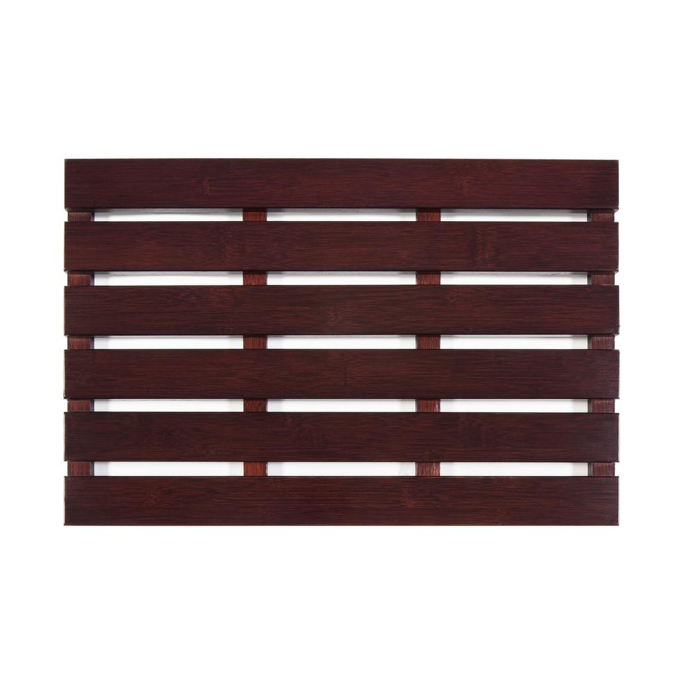 Sauna 24 Anji Mountain Cherry 16 In X 24 In Bamboo Bath And Sauna Mat