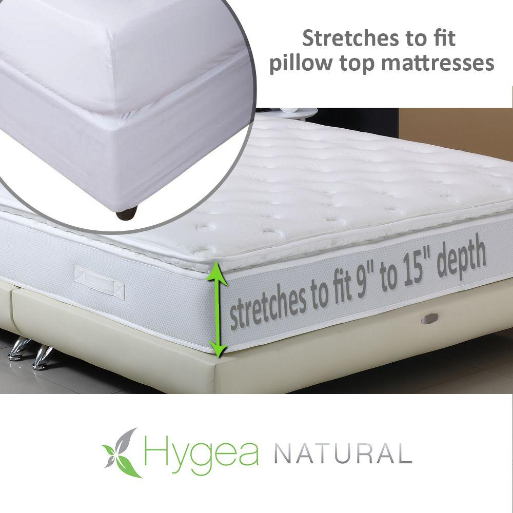 Bed Bug Protection Cover Hygea Natural Hygea Natural Bed Bug Mattress Cover Or Box Spring Cover Luxurious Plush Fabric Waterproof Encasement In Size Queen