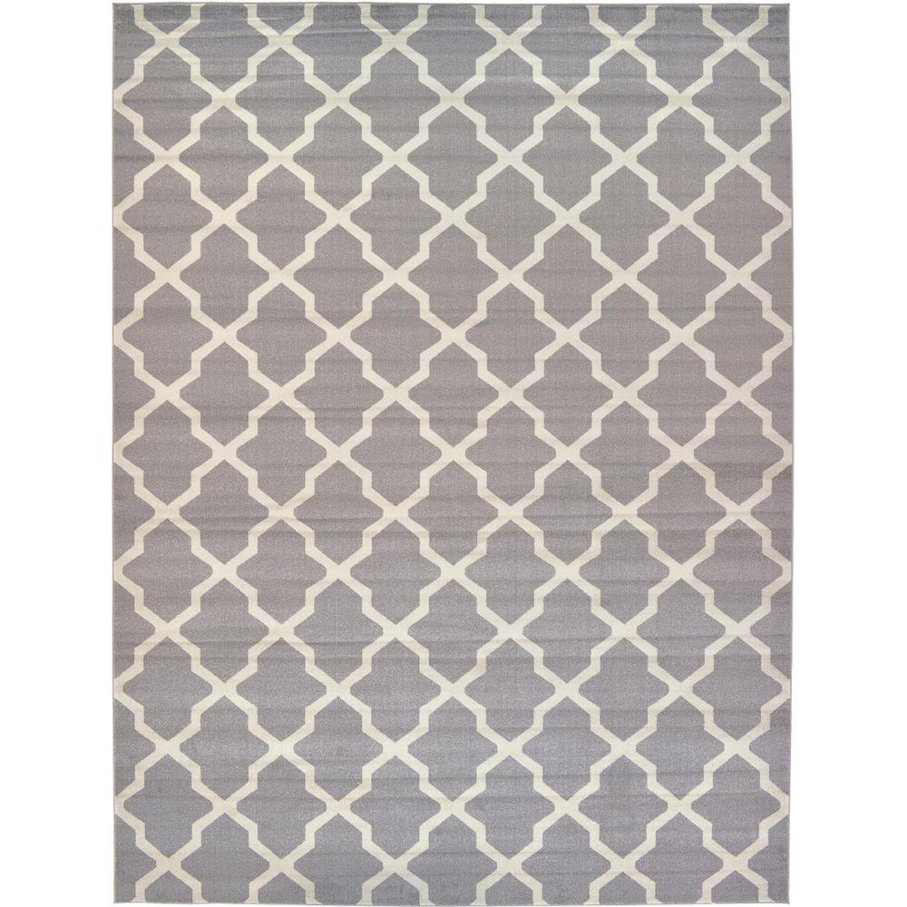 Unique Loom Trellis Gray 12 Ft 2 In X 16 Ft Area Rug