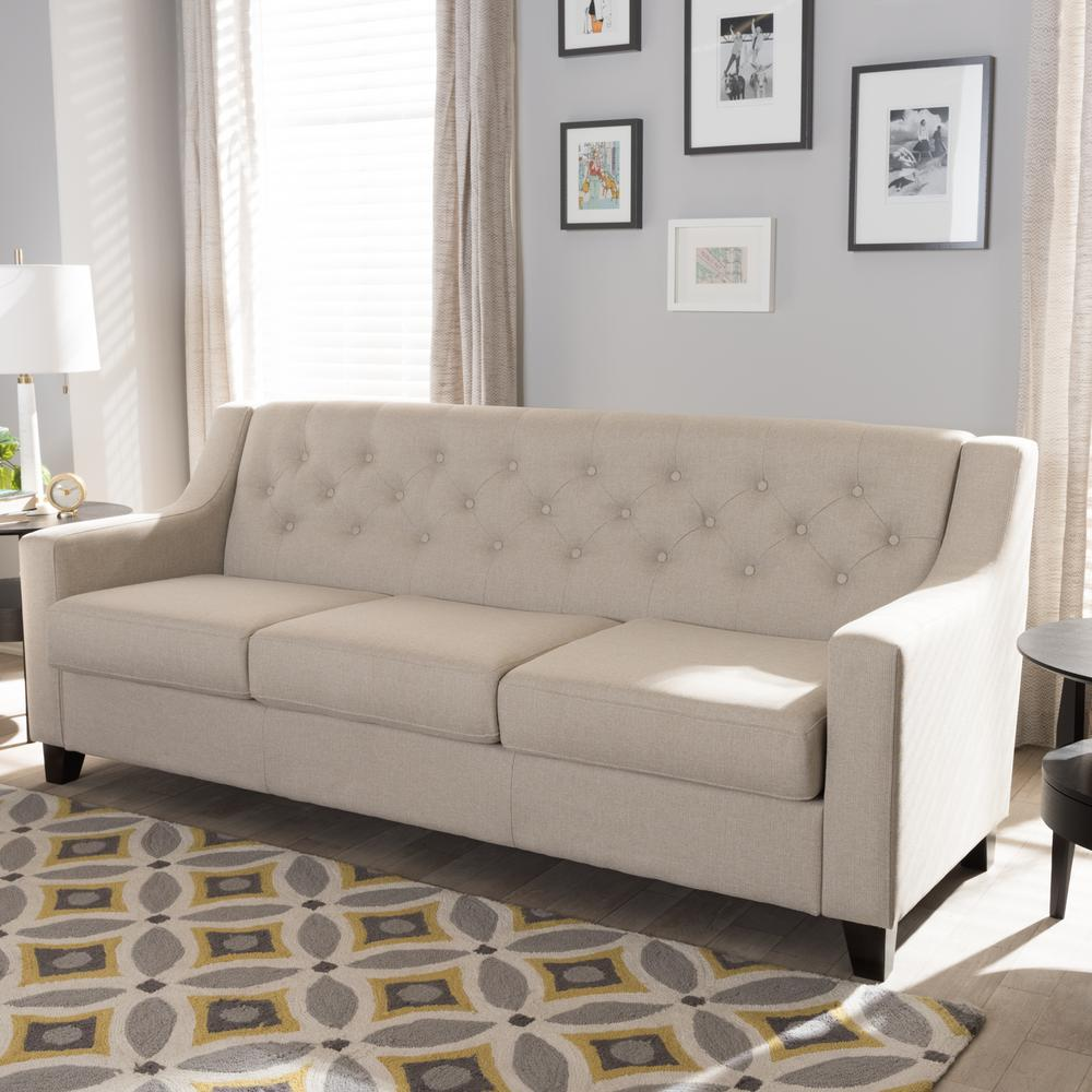 Durable Upholstery Fabric For Sofa Baxton Studio Arcadia Contemporary Light Beige Fabric Upholstered