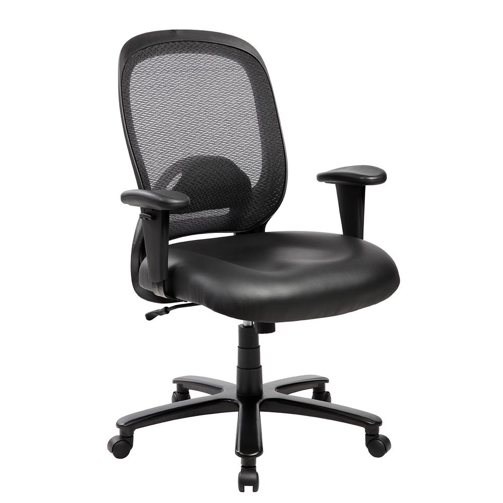 Chairs Comfortable Techni Mobili Black Comfortable Big And Tall Height Adjustable Office Computer Chair