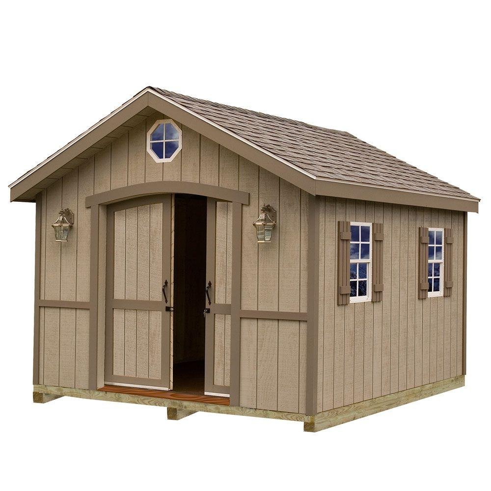 Home Depot Sheds For Sale Cambridge 10 Ft X 16 Ft Wood Storage Shed Kit With Floor Including 4 X 4 Runners