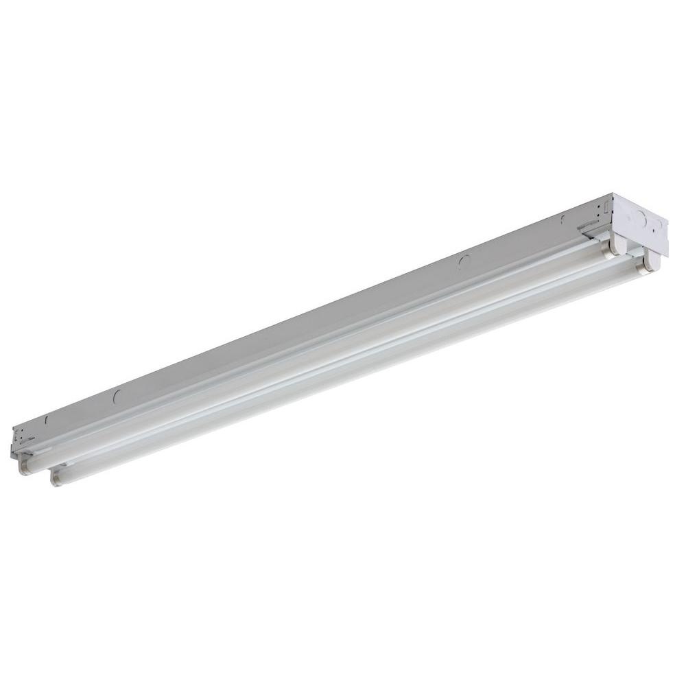 Led Light Strips At Home Depot Lithonia Lighting 2 Light White Electronic Channel Fluorescent Strip Light