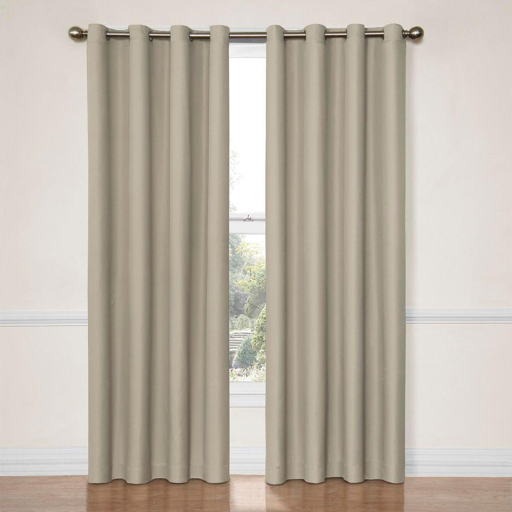 Dark Blue And Grey Curtains Eclipse Dane Blackout String Beige Curtain Panel 84 In Length Price Varies By Size