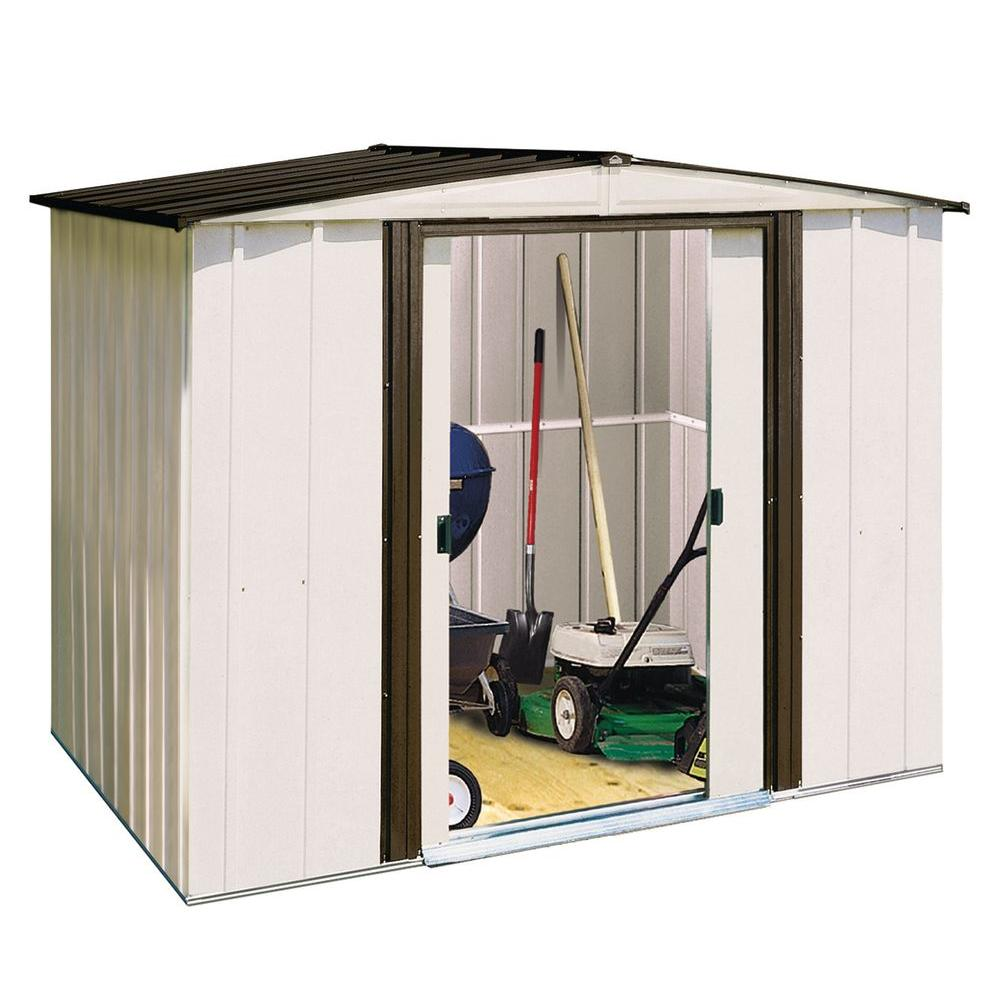 Home Depot Sheds For Sale Arrow Newport 8 Ft X 6 Ft Steel Shed