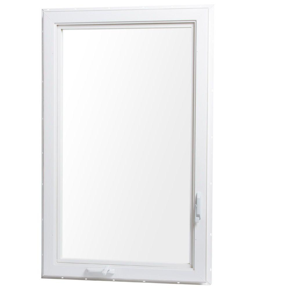 Soundproof Windows Home Depot Tafco Windows 24 In X 48 In Left Hand Vinyl Casement Window With Screen White