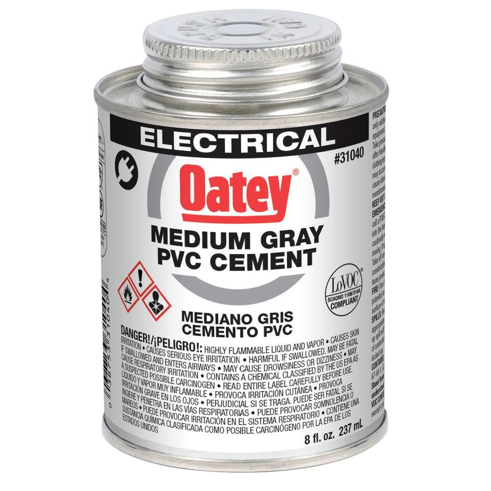 Abs Glue Oatey 8 Oz Pvc Electrical Solvent Cement Gray
