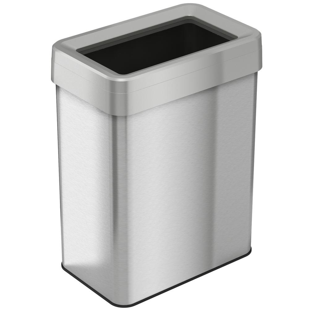 Stainless Steel Recycling Bins Itouchless 18 Gal Rectangular Open Top Commercial Grade Stainless Steel Trash Can And Recycle Bin With Dual Deodorizer