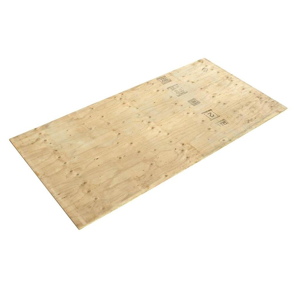 Half Inch Plywood 1 2 In X 4 Ft X 8 Ft Cdx Fire Retardant Douglas Fir Plywood