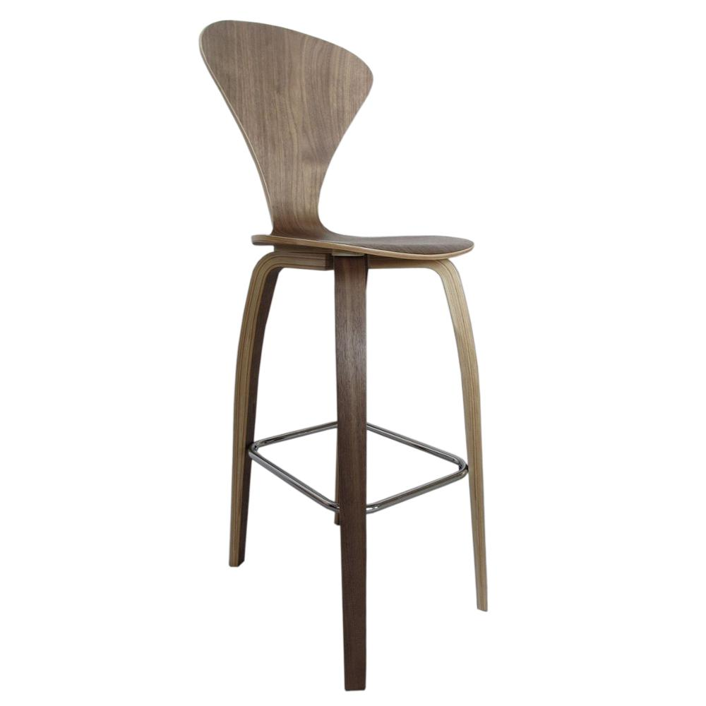 Bar Stool Chairs 30 In Walnut Wooden Bar Chair