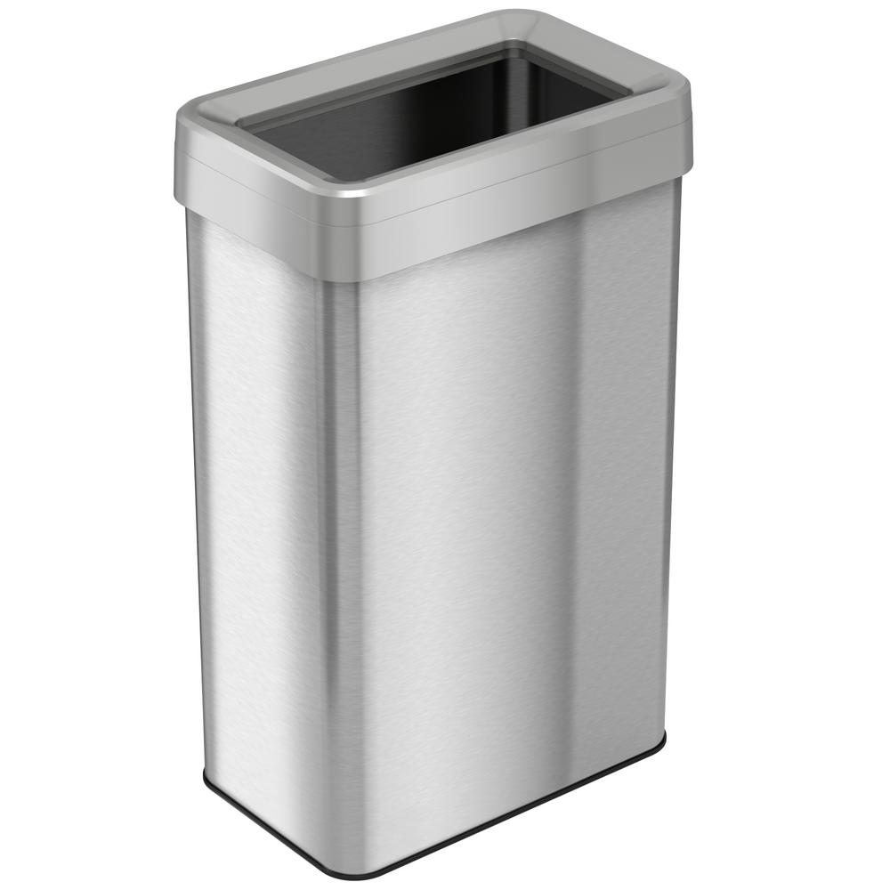 Stainless Steel Recycling Bins Itouchless 21 Gal Rectangular Open Top Commercial Grade Stainless Steel Trash Can And Recycle Bin With Dual Deodorizer