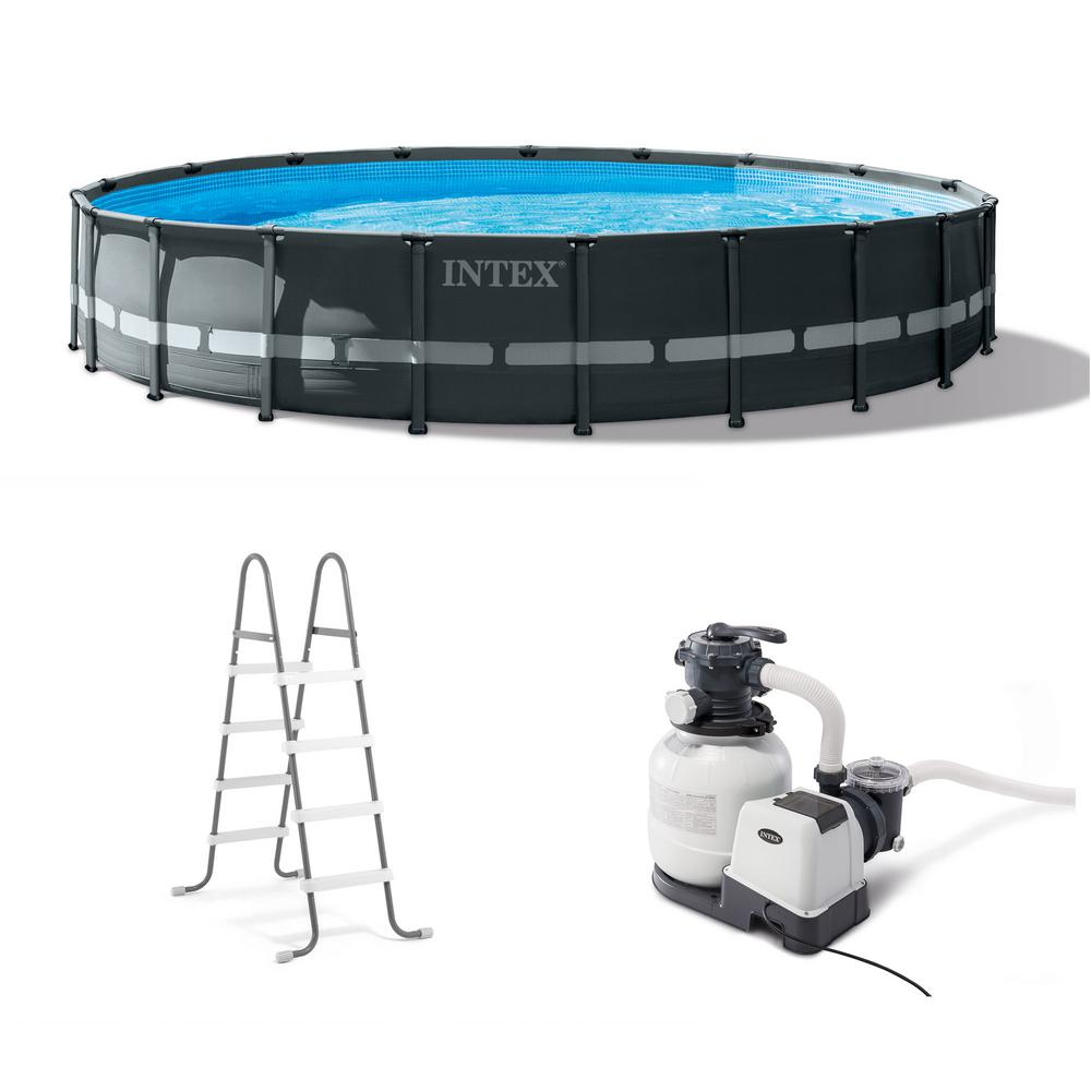 Intex Pool Frame Rund Intex 20 Ft X 48 In Ultra Xtr Frame Round Swimming Pool Set With