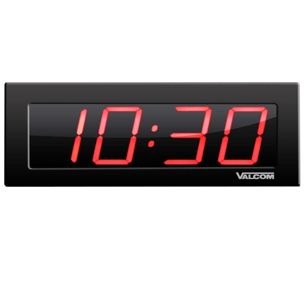 Digital Clock Valcom Ip Poe 4 In 4 Digit Digital Wall Clocks