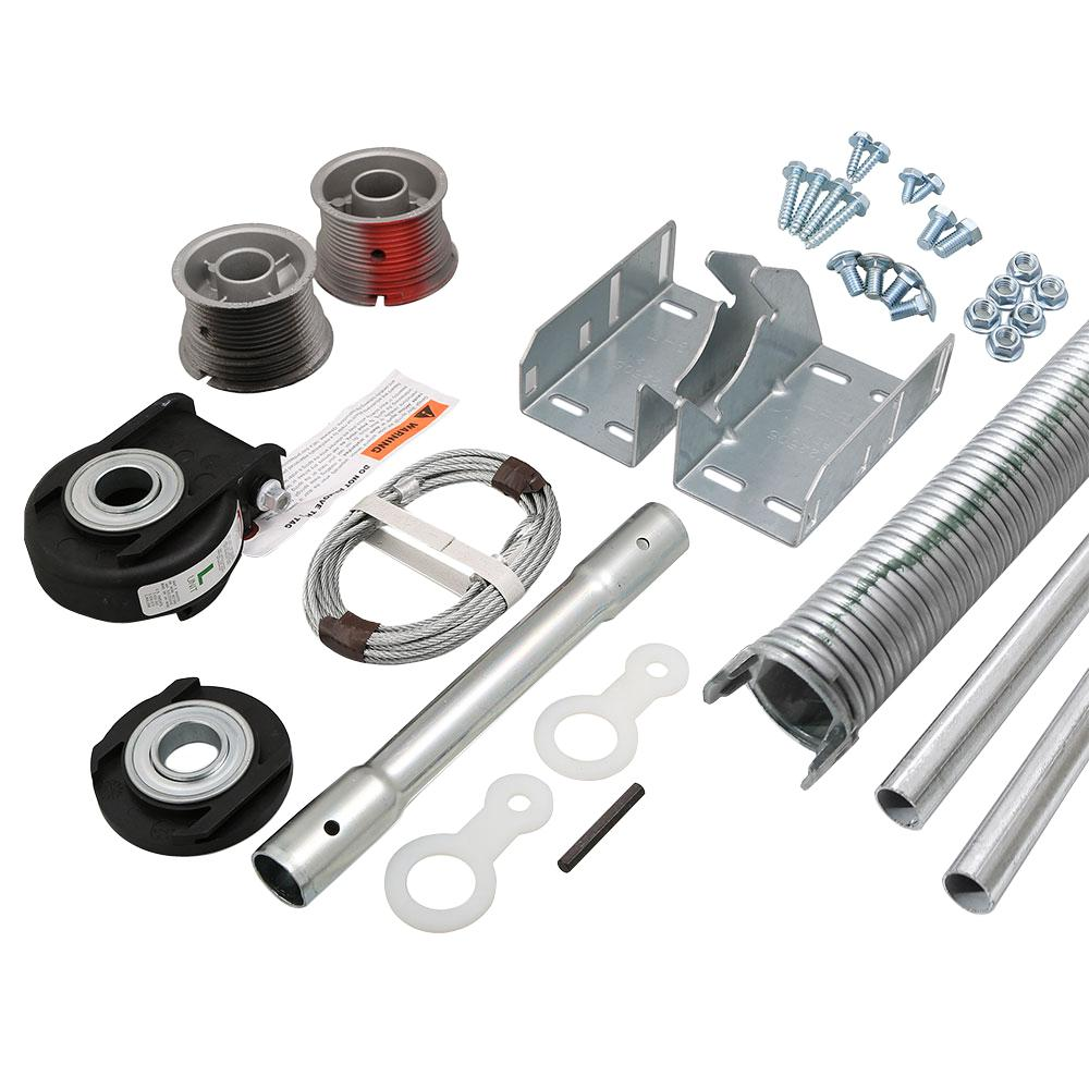 Accessories For Garage Ez Set Torsion Conversion Kit For 9 Ft X 7 Ft Garage Doors 134 Lbs 155 Lbs