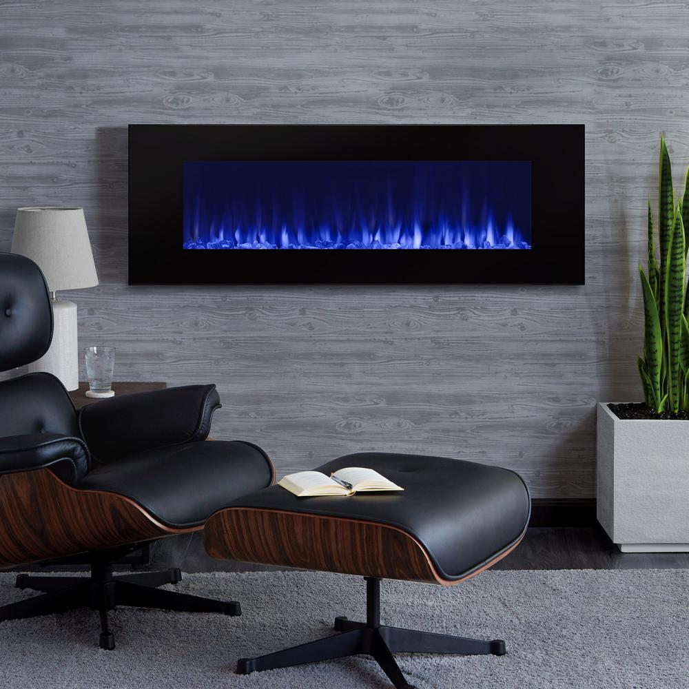 Electric Fireplace Built Into Wall Real Flame Dinatale 50 In Wall Mount Electric Fireplace In Black