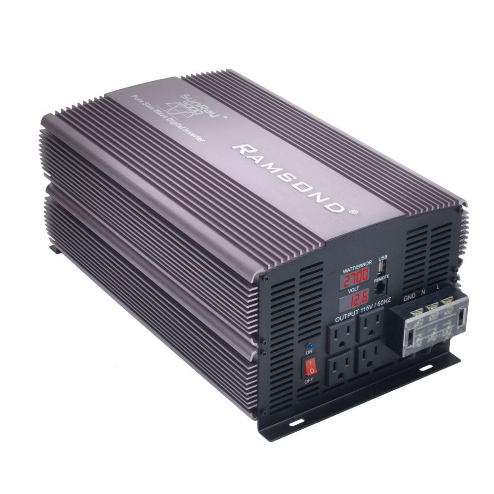 1000 Watt Pure Sine Wave Inverter Ramsond Sunray 3000 Pure Sine Wave Intelligent Dc To Ac Inverter 12 Volt