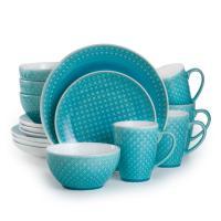 Palma 16-Piece Turquoise Dinnerware Set-PAL-86660TQ - The ...