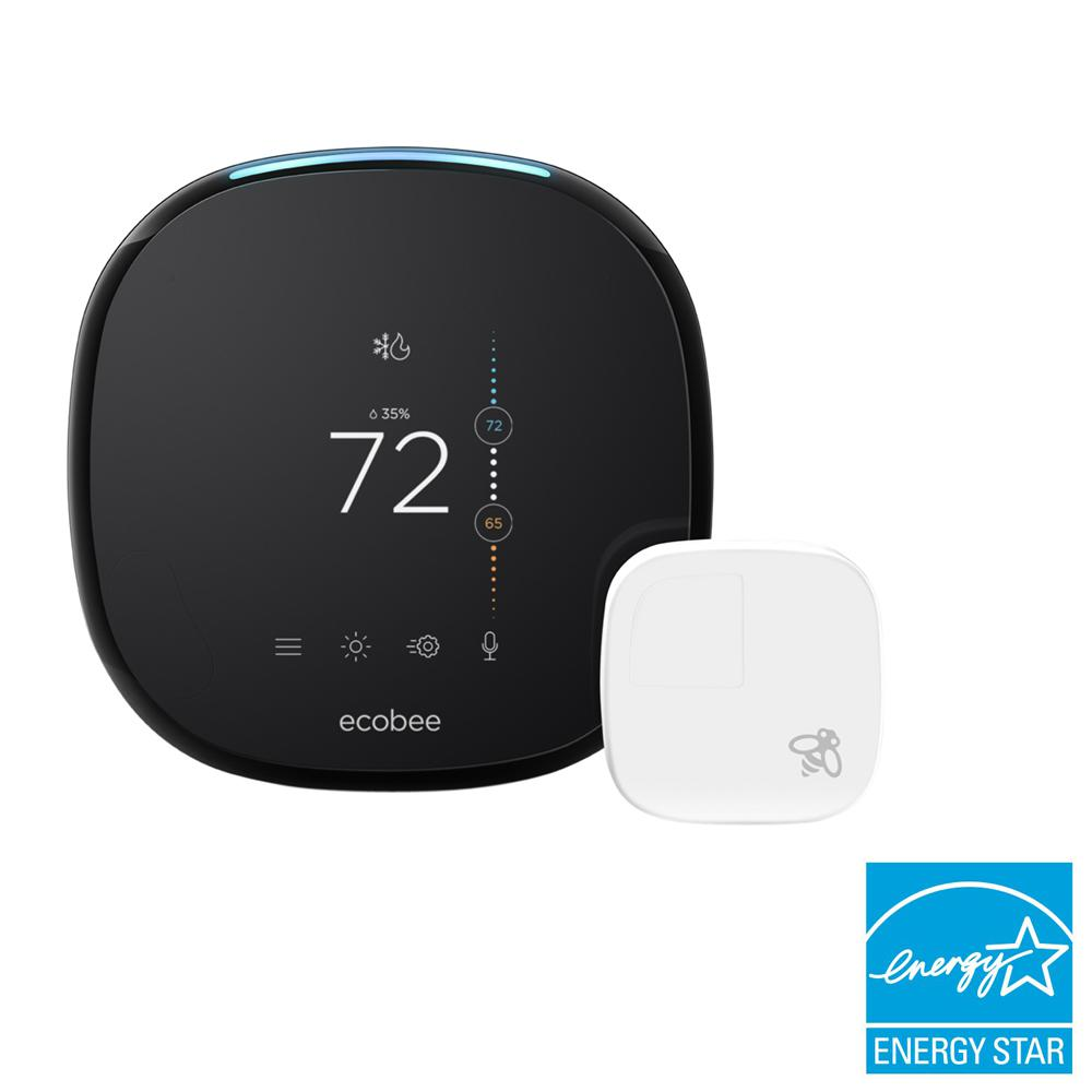 Ecobee Sensor Ecobee 4 Smart Thermostat With Room Sensor And Built In Amazon Alexa