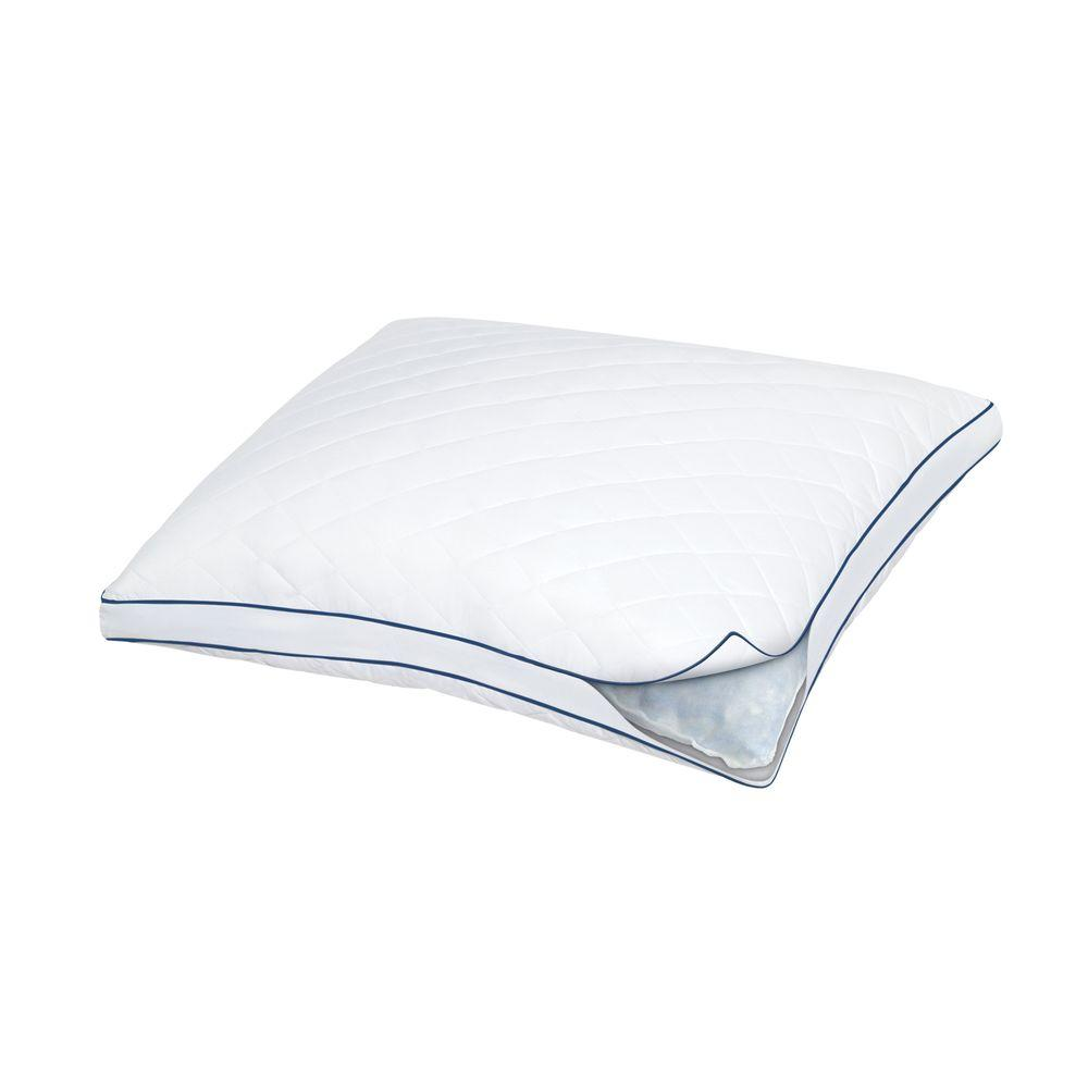 Standard Bed Pillows Always Supportive Gel Memory Foam And Fiber Fill Standard Pillow