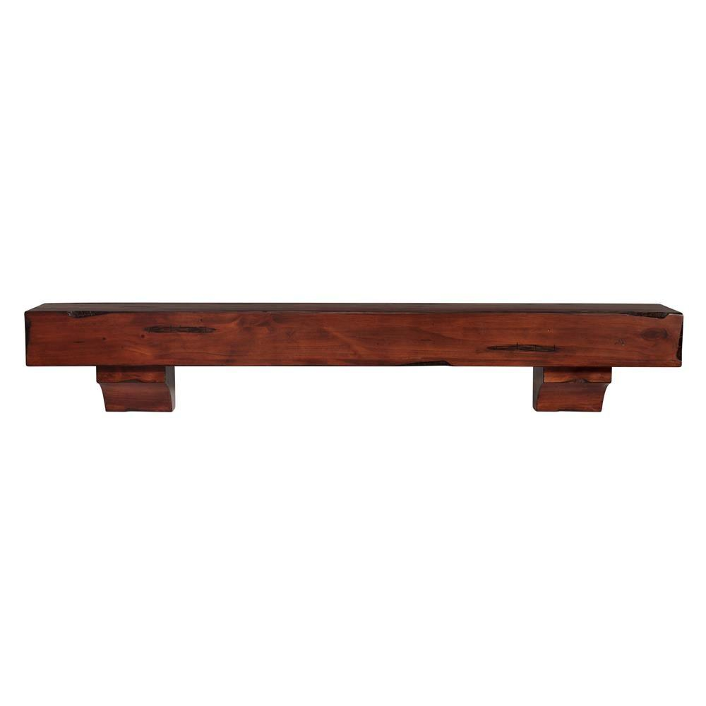 Cherry Fireplace Mantels Pearl Mantels The Shenandoah 6 Ft Cherry Rustic Distressed Cap Shelf Mantel