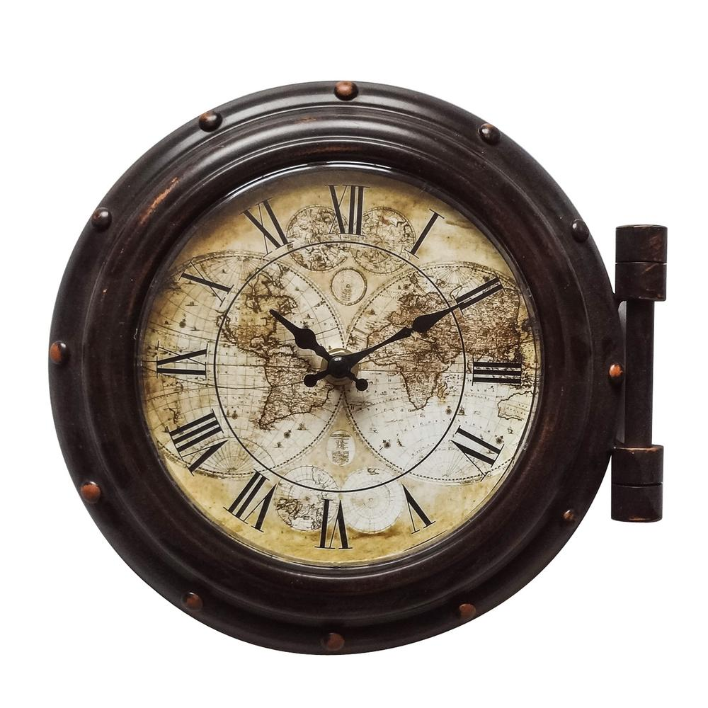 Wall Clock Design Old World Cppuccions Brown Analog Wall Clock