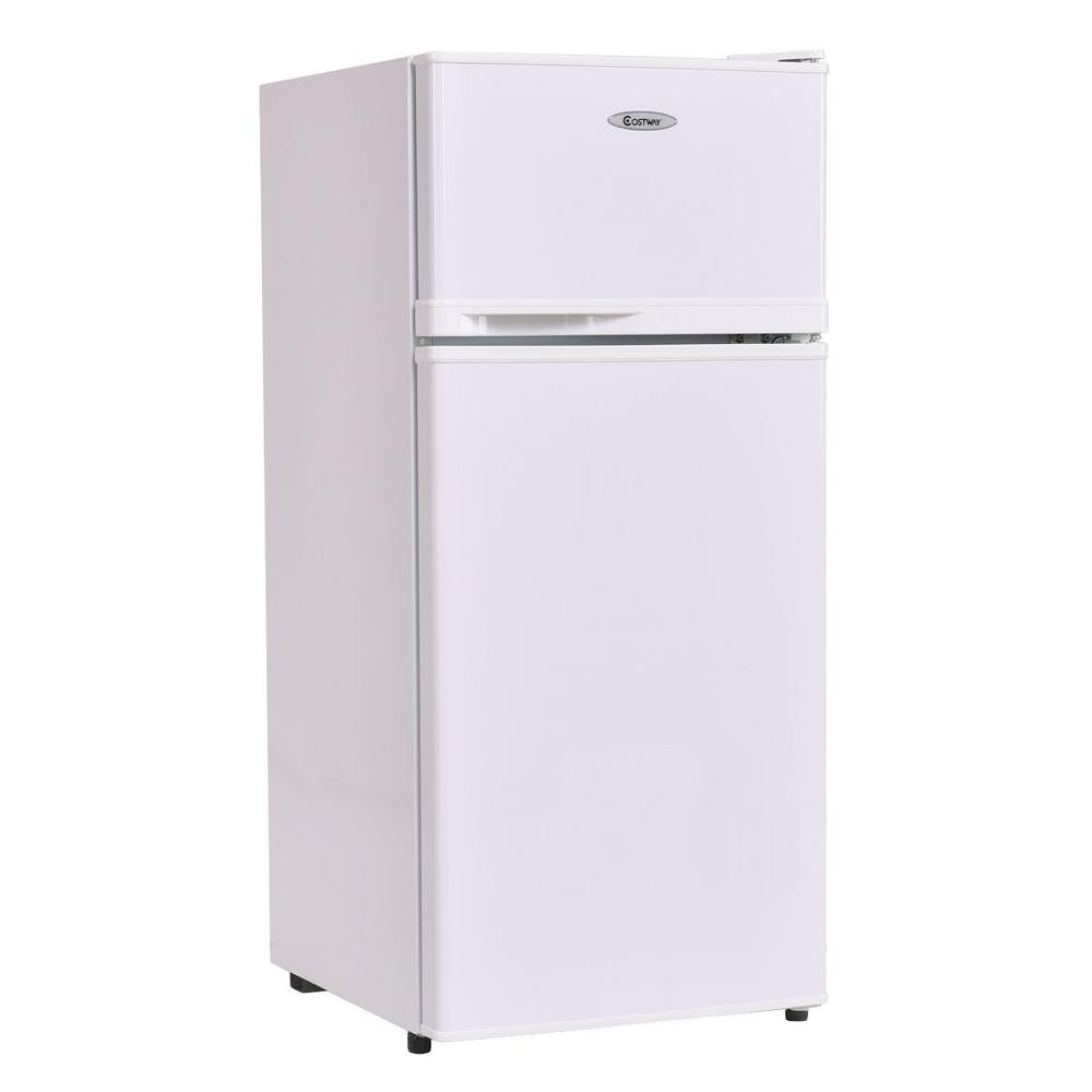 Fridge Freezer Costway 3 4 Cu Ft Unit Compact Mini Fridge Freezer Cooler 2 Doors White