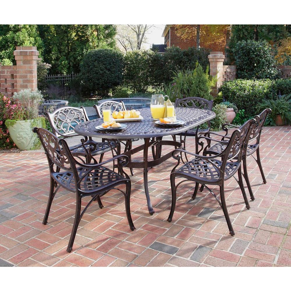 7 Piece Patio Set Home Styles Biscayne Bronze 7 Piece Patio Dining Set