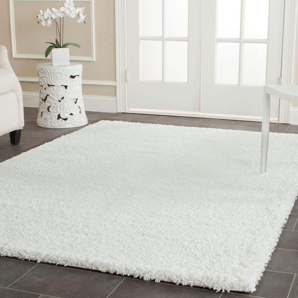 Outdoor Teppich Safavieh Safavieh California Shag White 8 Ft. X 10 Ft. Area Rug