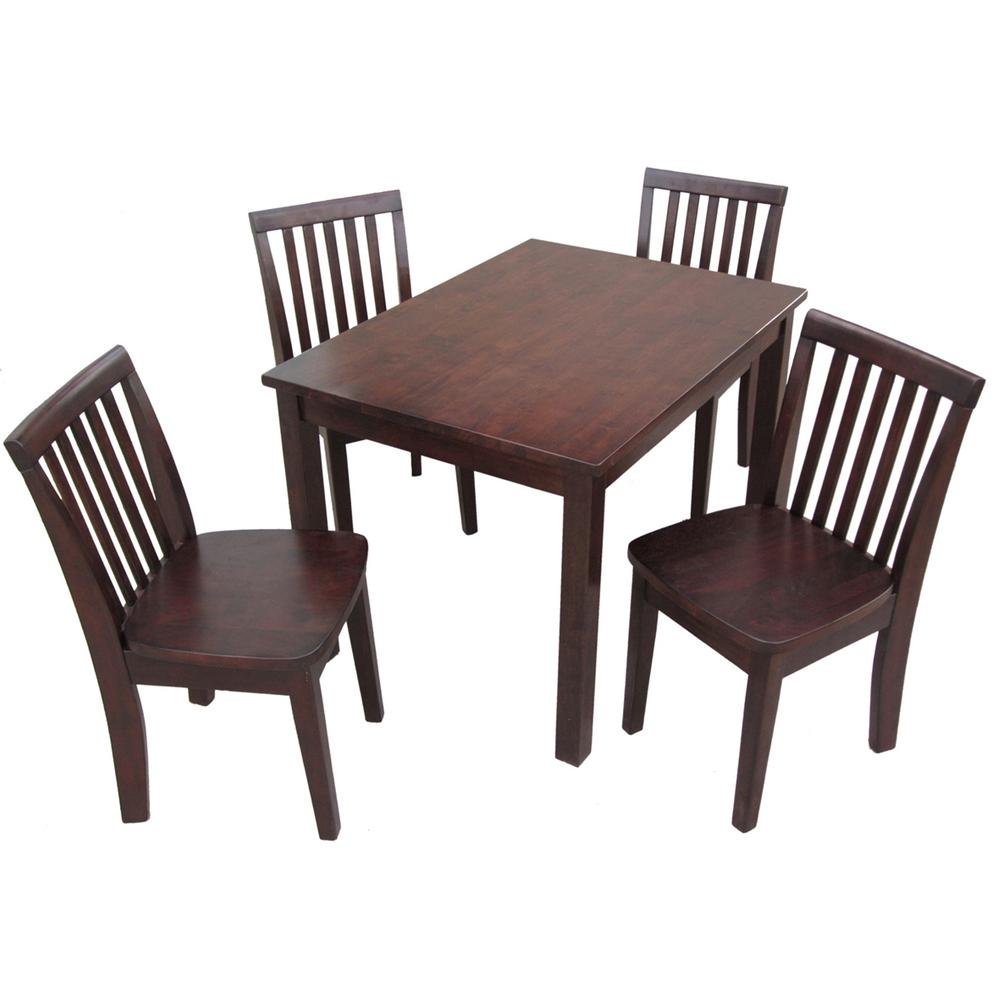 Childrens Table And Chair Set International Concepts 5 Piece Mocha Children S Table And Chair Set