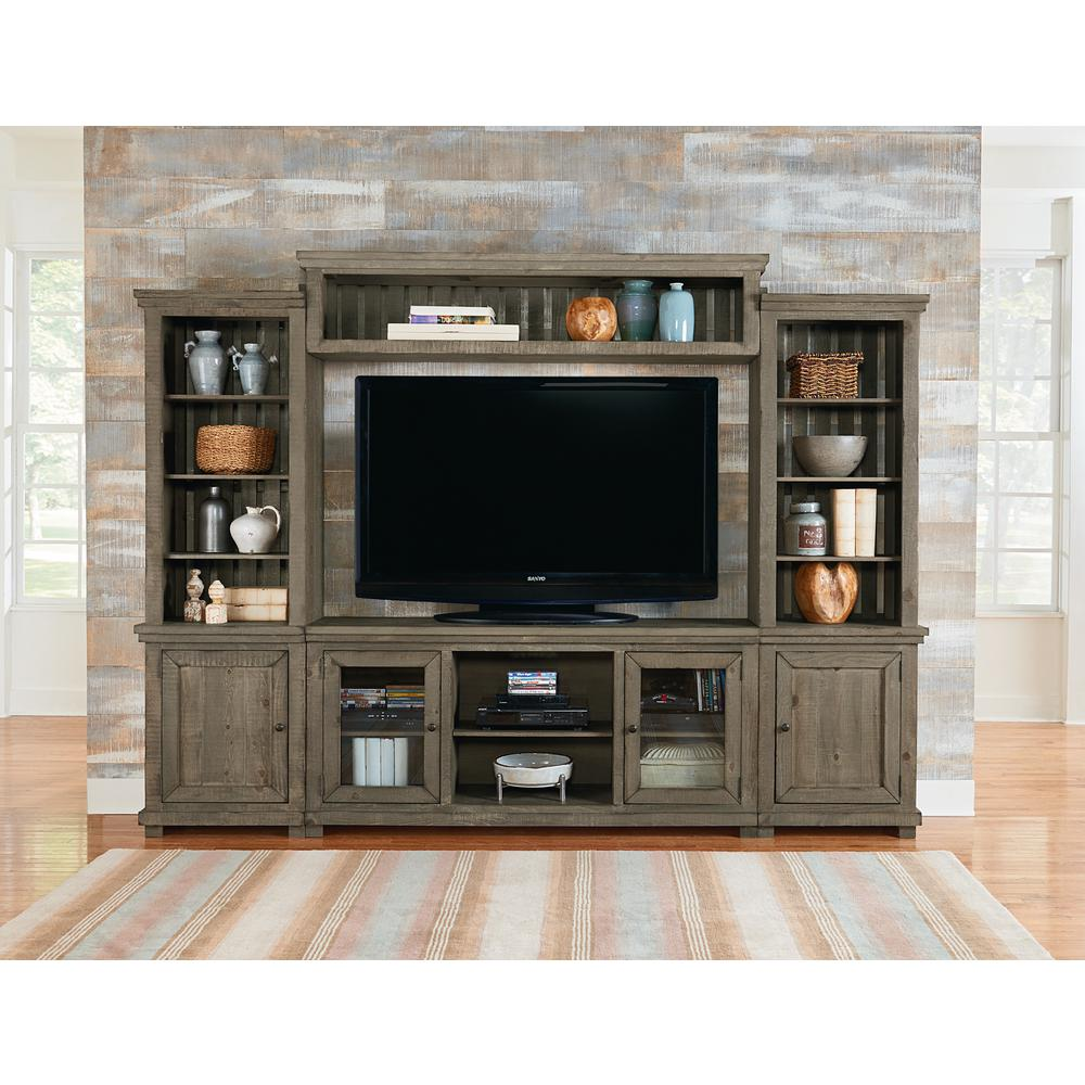Tv Units Willow Weathered Gray Complete Entertainment Center Wall Unit