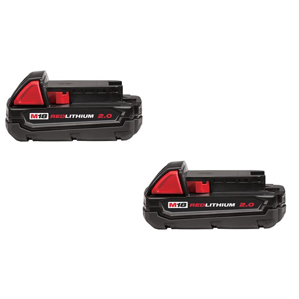 Milwaukee M18 Battery Milwaukee M18 18 Volt Lithium Ion Compact Battery Pack 2 0ah 2 Pack
