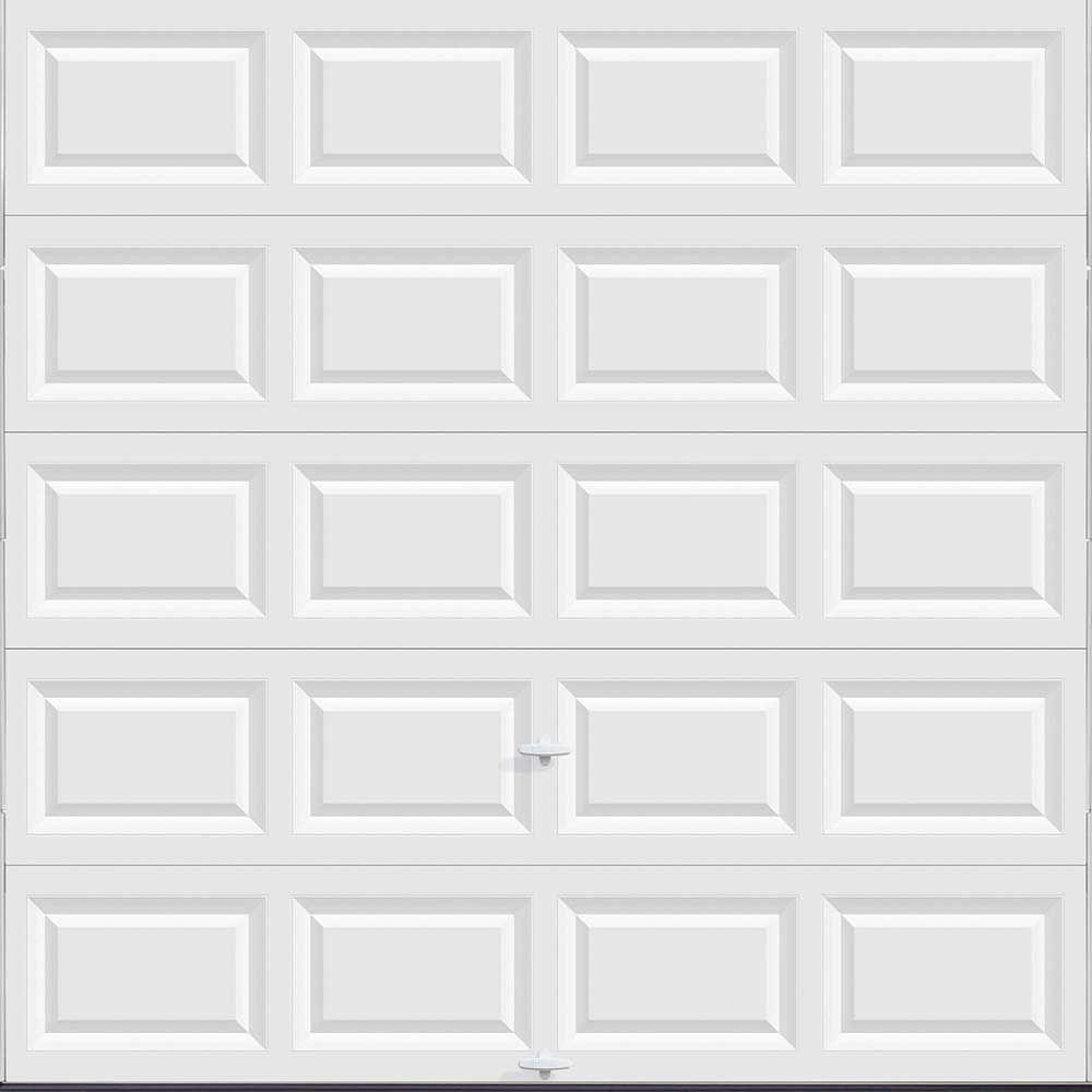 Garage Doors Prices Clopay Classic Collection 8 Ft X 8 Ft Non Insulated Solid White Garage Door