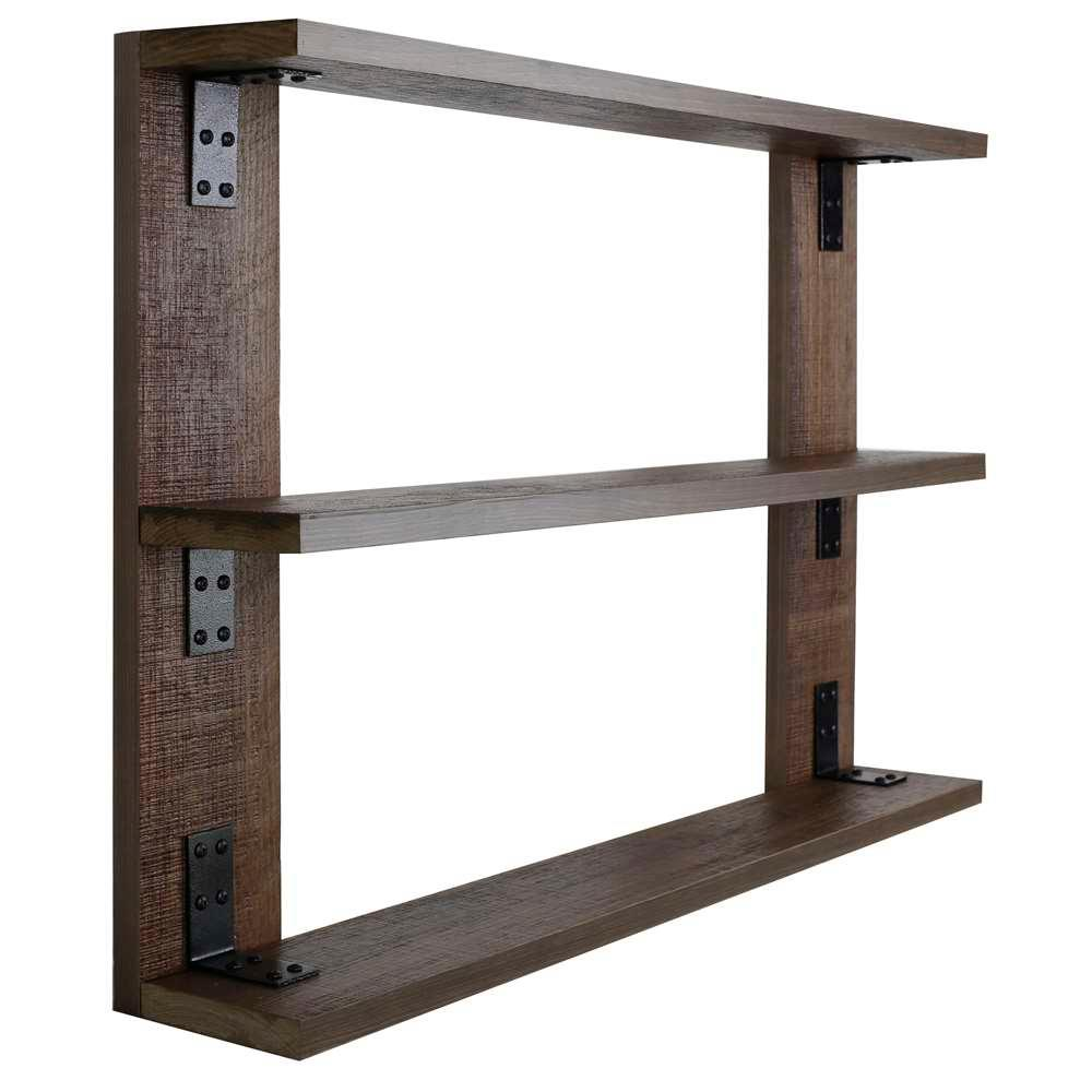 Hobbitholeco 36 In X 24 In 3 Shelf Wood And Metal Tri