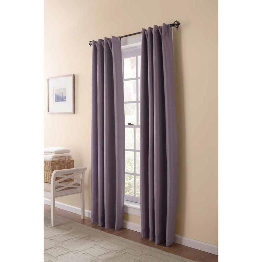 36 Inch Room Darkening Curtains Martha Stewart Living Faux Silk Room Darkening Window Panel In Fig 54 In W X 108 In L