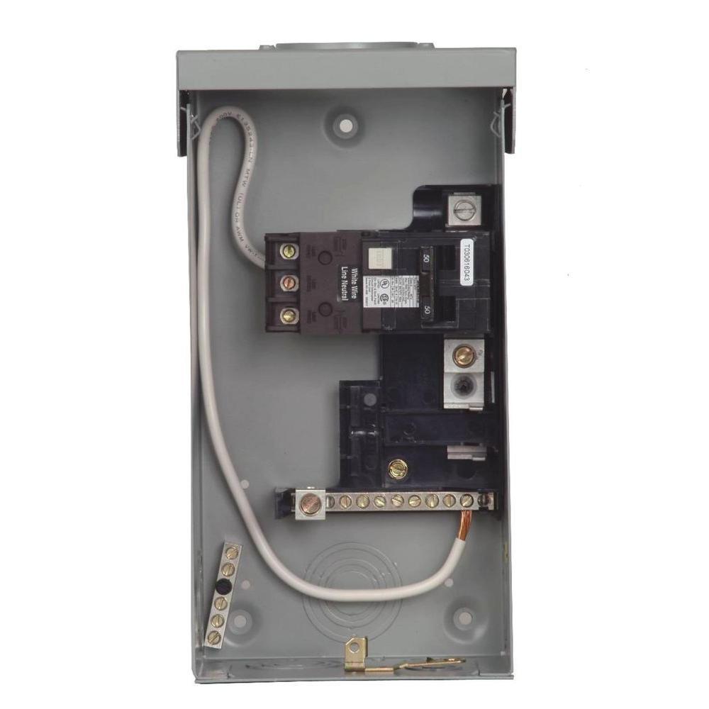 100a Sub Panel Breaker Box Wiring Diagram Siemens 125 Amp 4 Space 8 Circuit Main Lug Outdoor Spa