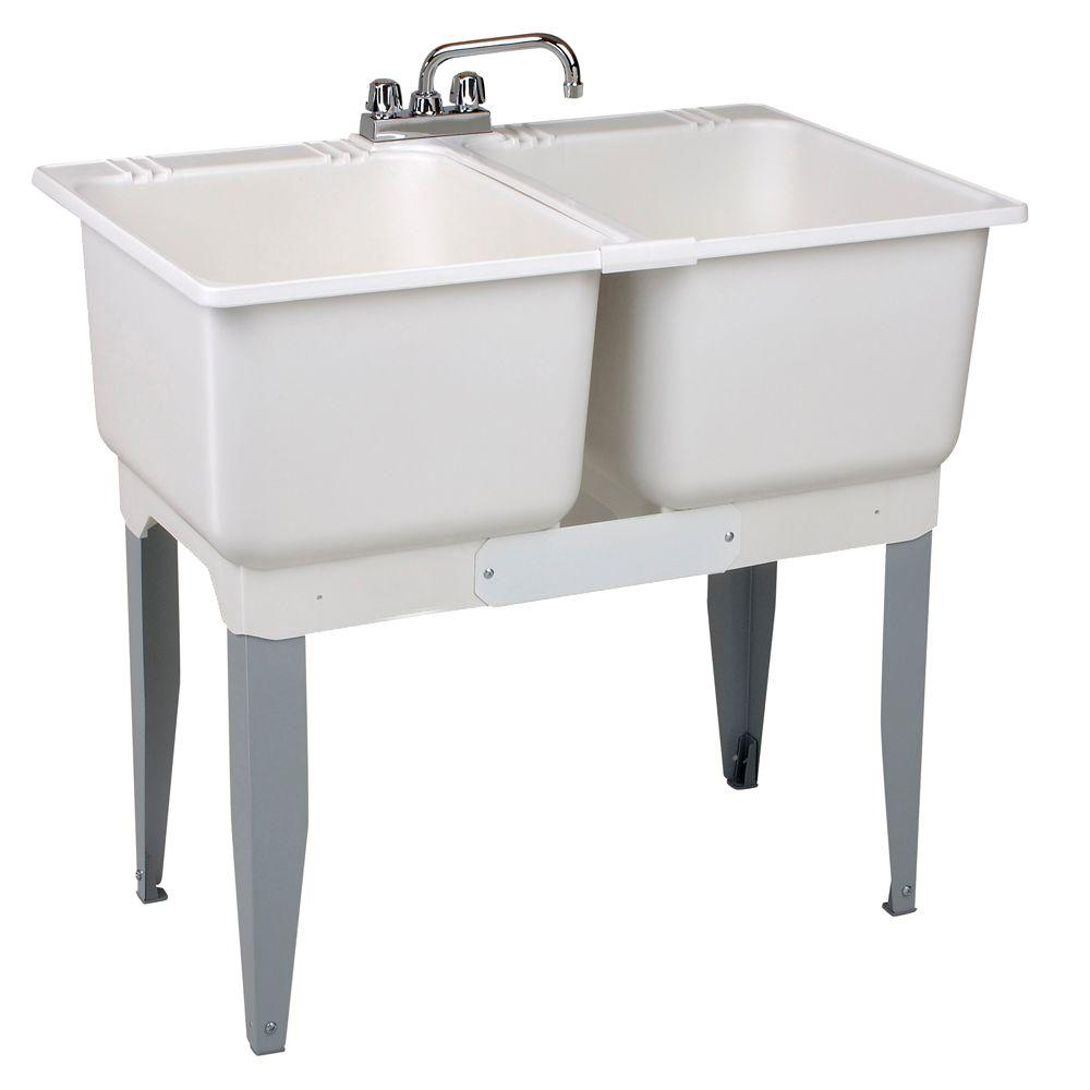 Garage Utility Sink Mustee 36 In X 34 In Plastic Laundry Tub