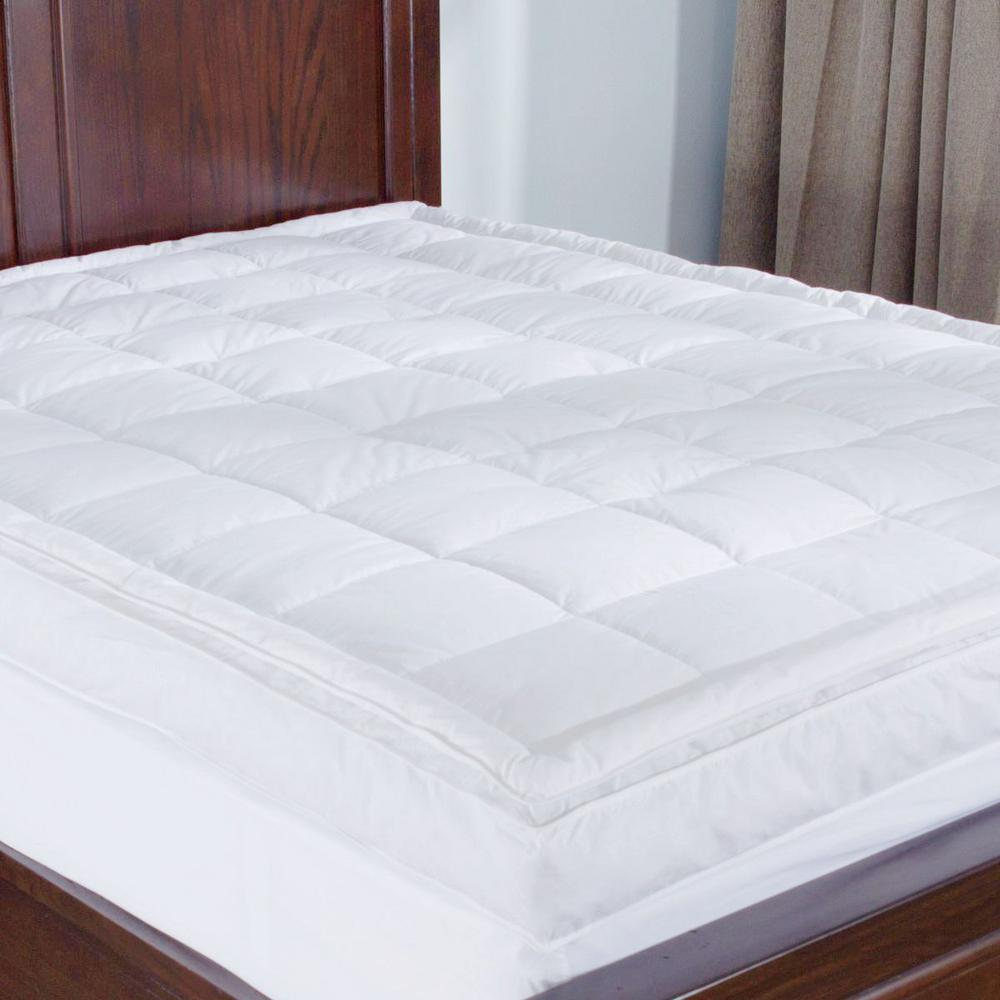 Double Bed Mattress Cover Puredown Premium Goose Down Mattress Pad Bed Topper 75 Feather 25 Down White Twin Size